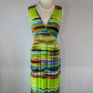 Mlle Gabrielle green maxi dress.Med. L12